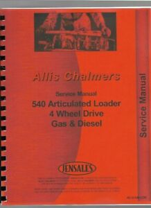 Allis Chalmers 540 Loader Service Repair Manual Articulated