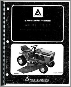 Operators Manual Allis Chalmers 816 Lawn Garden Tractor