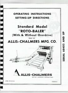 Allis Chalmers Rotobaler Baler Owners Operators Manual
