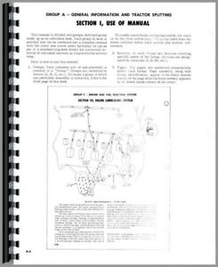 Service Manual Case 630 Tractor