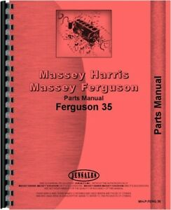 Ferguson 35 Tractor Parts Manual Catalog