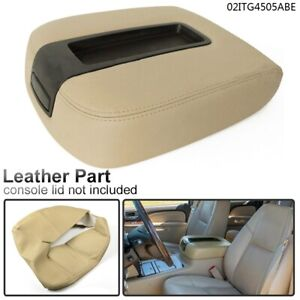 Beige Leather Armrest Center Console Lid Cover For Chevy Tahoe Suburban Gmc