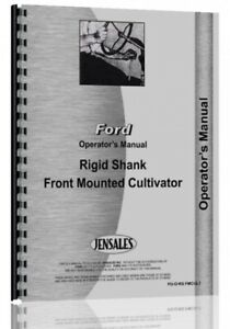 Operators Manual Ford Dearborn Ridged Shank Front Mounted Cultivator