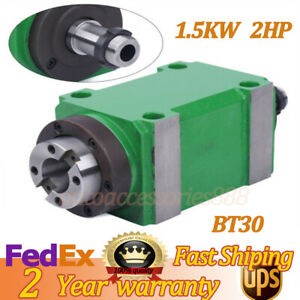 Green Bt30 1 5kw 2hp Cnc Mechanical Spindle Unit Power Milling Head For Milling