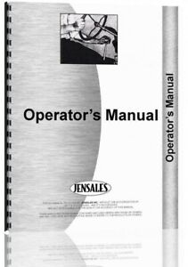 Operators Manual International Harvester 58 Planter