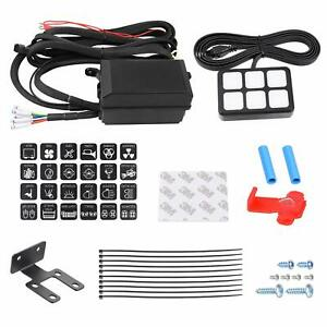 6 Gang Switch Panel Electronic Relay System Led Work Light Bar Waterproof 12 24v