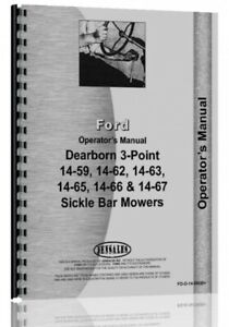 Operators Manual Dearborn 14 59 14 62 14 63 14 6514 66 14 67 Sickle Bar Mower