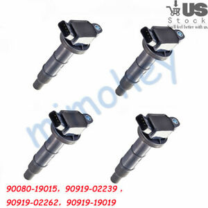 4pcs Oem Ignition Coil 90919 02239 For Toyota Corolla Celica Chevy 1 8l Uf247 Us