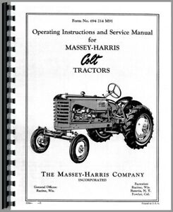 Service Manual Massey Harris Colt Tractor