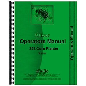 Oliver 252 Corn Planter Owners Operators Manual 2 Row