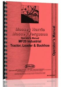 Massey Ferguson 20 Tlb Tractor Loader Backhoe Owners Operators Manual