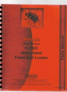 Hough H 100c Pay Loader Articulated Front Loader Chassis Parts Manual Catalog