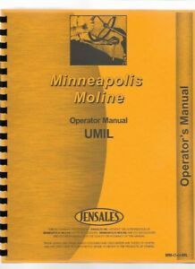 Minneapolis Moline U Military Tractor Owners Operators Manual