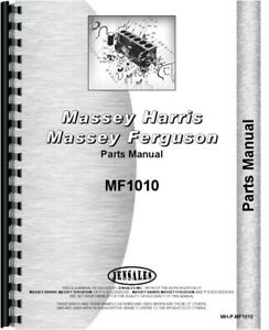 Massey Ferguson 1010 Diesel Compact Tractor Parts Manual Catalog