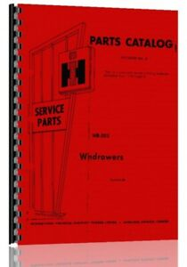 Parts Manual International Harvester 175 275 375 200 Windrower
