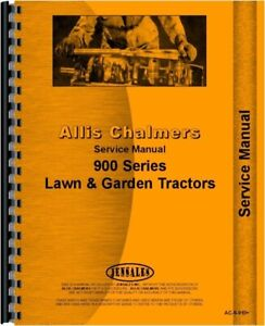 Allis Chalmers 912 910 916 914 917 Lawn Garden Tractor Service Repair Manual