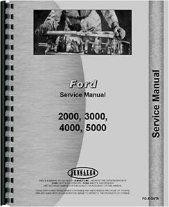 Service Manual Ford 4000 2000 5000 3000 Tractor Data