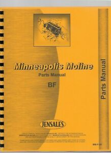 Minneapolis Moline Bf Tractor Parts Manual Catalog Avery R