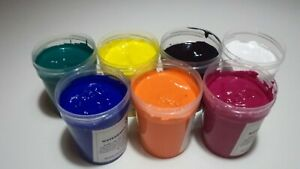 Water Based Screen Printing Ink For Fabric Paper And Card Starter Kit 7 Color
