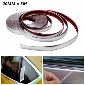 3m Car Suv Chrome Diy Moulding Trim Strip For Grille Window Door Bumper Install Fits 1966 Gto
