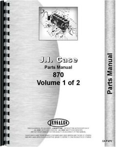 Case 870 Gas Diesel Agri king Tractor 2 Volume Parts Manual Catalog
