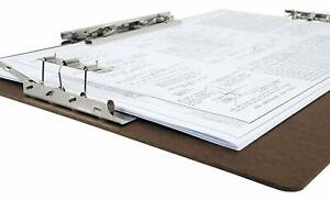 Hardboard clipboard With 8 inch Hinge And Mousetrap Clip