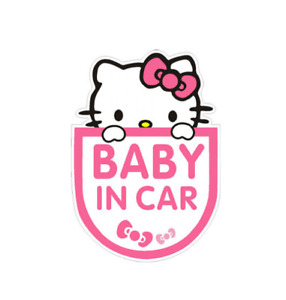 Reflective Warning Car Stickers Baby In Car Hello Kitty Personalized
