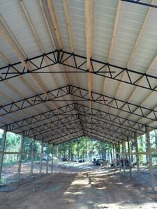 11 40 Steel Trusses Pole Barn For A 40x100 Pole Barn