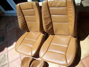 Mercedes Benz W124 E Class 93 95 Front Leather Factory Seats 6 Covers Saffron