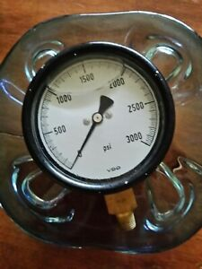 3000 Psi Pressure Gauge Liquid filled 4 Inch Face Hydraulic Steampunk