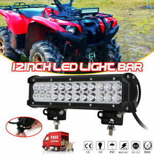 Brand New 12inch 72w Combo Led Work Light Bar Driving Offroad Suv Atv Boat Wf