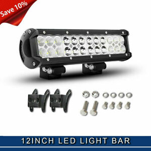New 12inch 72w Led Work Light Bar Driving Offroad Suv Atv Boat Wiringh Wf