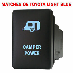 Push Switch 965nb 12volt For Toyota Oem Camper Power Tacoma Led New Blue