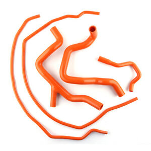 Fits Ford Focus Rs Mk2 2 5 Rs 2009 2010 2011 Silicone Coolant Hose Kit Orange