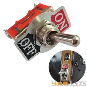 1x Vintage Motorcycles 2 pin Toggle Flick Switch 12v Spst On off Botton Switches