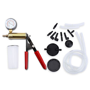 Automotive Vacuum Pressure Pump Tester Set Brake Fluid Bleeder Vacuum Gauge Tool