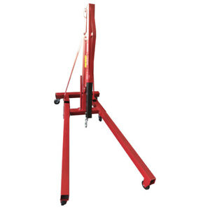 2 Ton Red Color Engine Motor Hoist Cherry Picker Shop Crane Lift Foldable