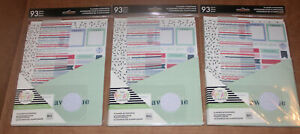 Lot Of 3 93 Pieces Planner Accessories Of The Happy Planner Me My Big Ideas