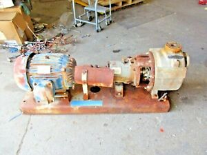 Durco 1 1 2 X 2 10 Mark 3 Stainless Self priming Pump W 20 Hp Motor 911334j