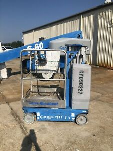 2009 Genie Gr15 Drivable One Man Lift Electric Scissor Lift Boom Jlg Skyjack