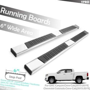 Chrome 6 Oe Aluminum Bars Running Boards For 2015 2019 Chevy Colorado Crew Cab