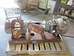 Durco mark 3 1 1 2 X 2 10 Stainless Self priming Pump W 10 Hp Motor 912855