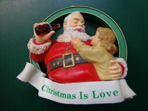 Vintage-style 1990 (1938) Christmas Is Love Coca-Cola Ornament FREE SHIP
