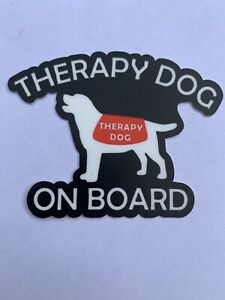 Therapy Dog Onboard Car Vinyl Decal Window Sticker On Board Service Animal