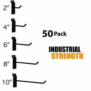 Only Hangers Commercial Grade Slatwall Hooks Combo Pack Of 50 Assorted Size Pe