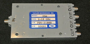 Taylor Microwave Pd4 21800 4 Way Power Divider 2 18 Ghz