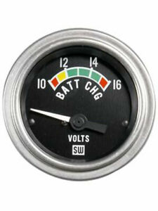 Stewart Warner Gauge Voltmeter 10 16v 2 1 16 Electrical Black 82309