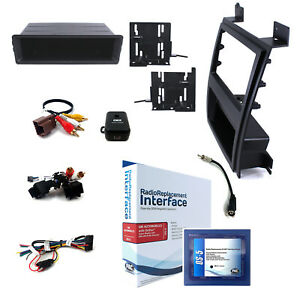 Radio Replacement Adapter W Single Double Dash Mount Kit For Escalade Upper Dash