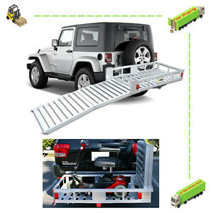 Aluminum Cargo Carrier 60 Ramp Heavy Duty Extra Wide Secure Load Anchor Points