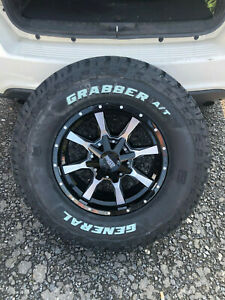 17x8 Moto Metal Mo970 33 General At Wheels Rims Tire 6x135 Ford F150 Expedition